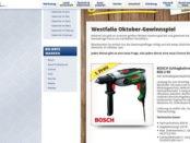 Westfalia Gewinnspiel Bosch Schlagbohrmaschine 2017
