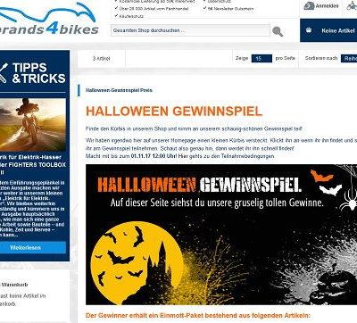 brands4bikes Halloween Gewinnspiel Motorrad Einmott-Paket