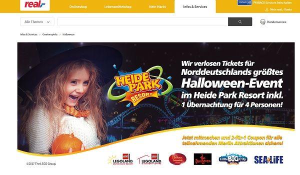 real Gewinnspiel Heide Park Halloween Event Reise