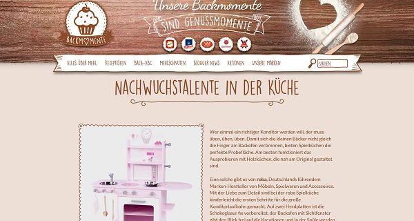 Backmomente Gewinnspiel Kinderküche 2017