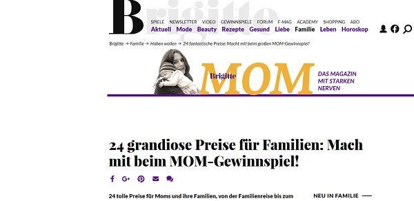 Brigitte MOM Gewinnspiel 24 Preise 2017