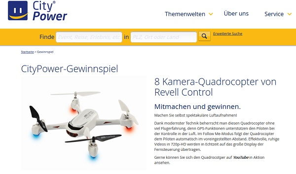 City Power Quadrocopter Gewinnspiel
