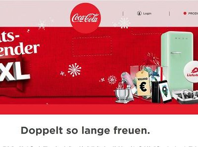 Coca Cola Advenstkalender Gewinnspiel 2017