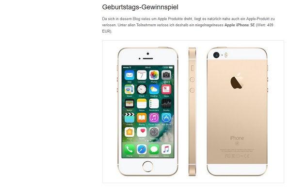 Datenreise Gewinnspiel Apple iPhone SE