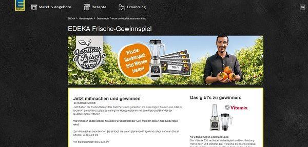 Edeka Frische Gewinnspiel Vitamix Mixer