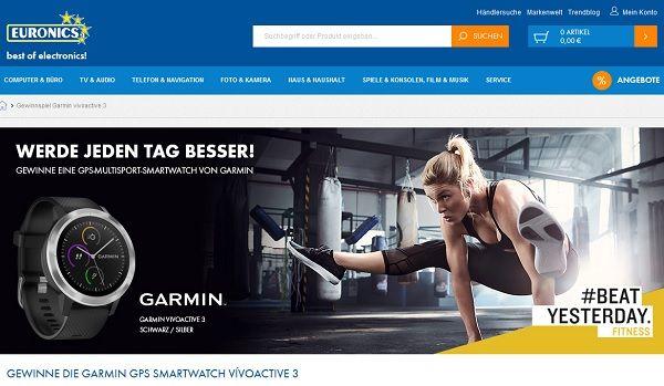 Euronics Gewinnspiel Garmin Smartwatch 2017