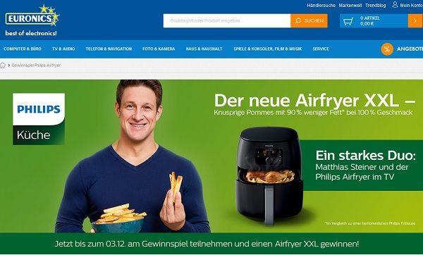 Euronics Gewinnspiel Philips Airfryer XXL gewinnen