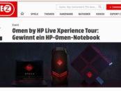 Gamez HP Gamernotebook Gewinnspiel 2017