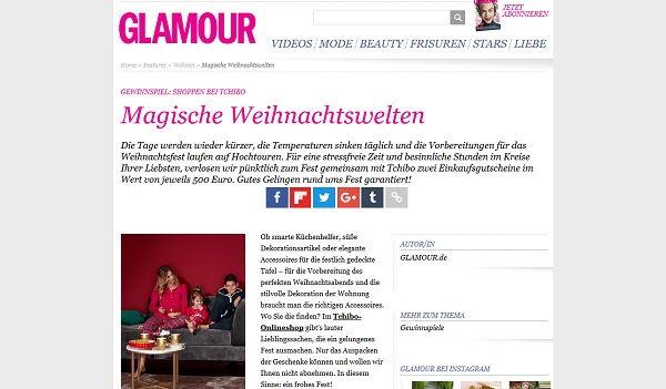glamour und tchibo weihnachtswelten gewinnspiel 500 euro. Black Bedroom Furniture Sets. Home Design Ideas
