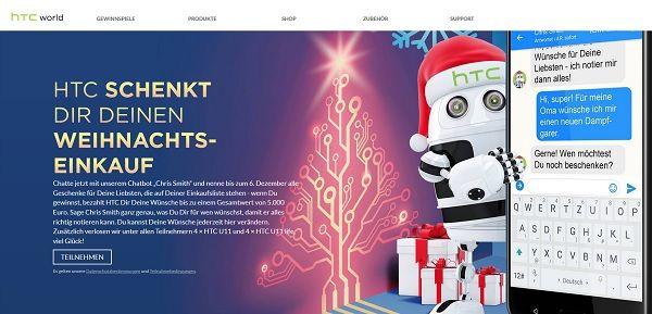 HTC World Weihnachtsgewinnspiel 2017