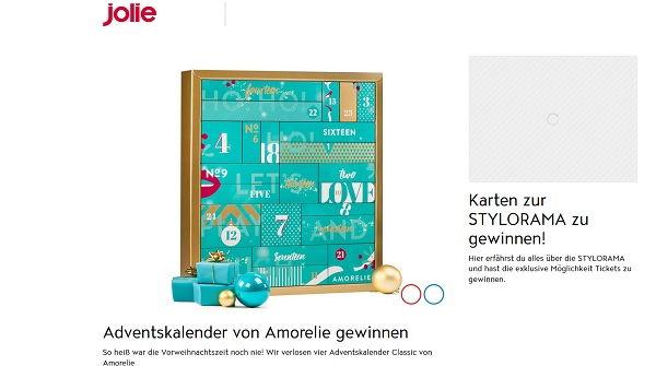 jolie amorelie adventskalender gewinnspiel. Black Bedroom Furniture Sets. Home Design Ideas