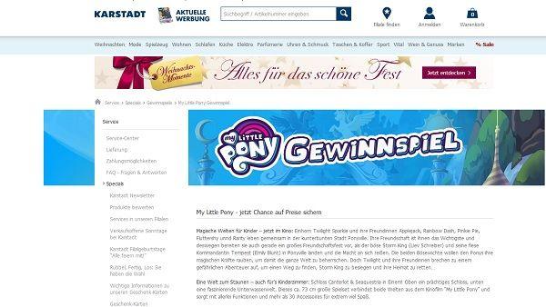 Karstadt Gewinnspiel my Little Pony 2017