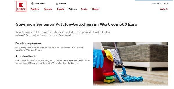 Kaufland Putzfee Gewinnspiel 500 Euro Gutschein gewinnen