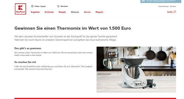 Kaufland Gewinnspiel Thermomix 2017
