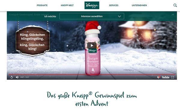 Kneipp Advents-Gewinnspiel 2017
