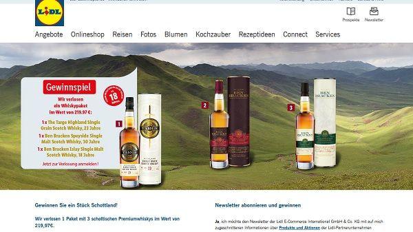 Lidl Gewinnspiel schottisches Whisky Paket