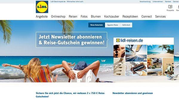 Lidl Reisen Gewinnspiel 2 mal 750 Euro Reisegutschein