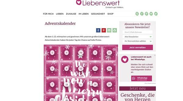 Liebenswert Magazin Adventskalender Gewinnspiel 2017