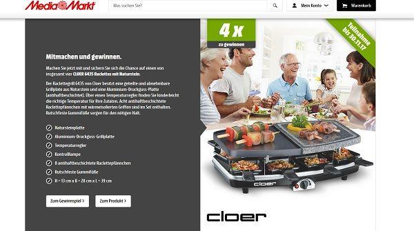 Media Markt Gewinnspiel Raclettes mit Naturstein