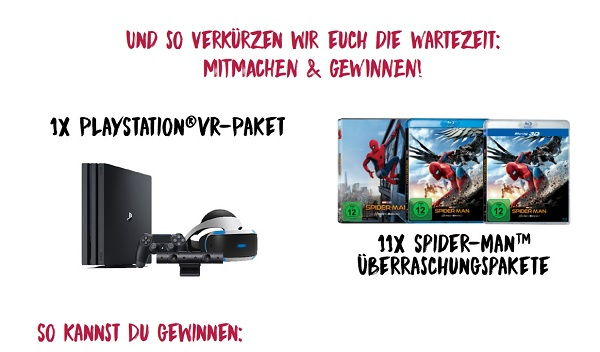 Reno Gewinnspiel Spider-Man Homecoming PS4 VR Sets