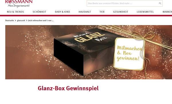 Rossmann Gewinnspiel Glanz Box 2017