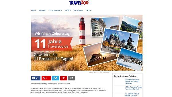 Travelzoo Gewinnspiel Geburtstag 2017