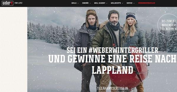 Weber Wintergrillen Gewinnspiel Lappland Reise 2017