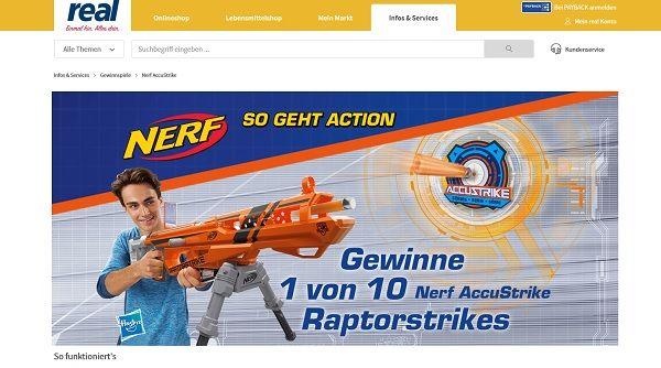 real Gewinnspiel Nerf AccuStrike Raptorstrike