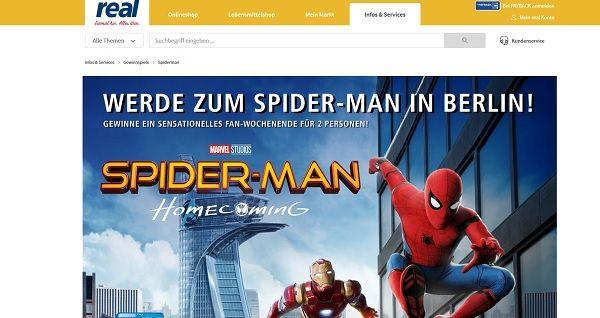 real spider-man homecoming Gewinnspiel 2017