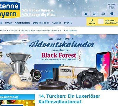 Antenne Bayern Gewinnspiel Kaffeevollautomat 2017