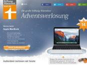 Apple MacBook Gewinnspiel Stiftung Warentest Adventskalender