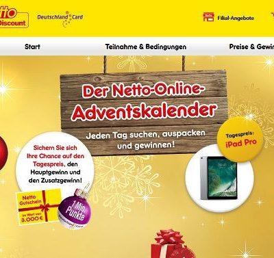 Apple iPad Pro Gewinnspiel Netto Adventskalender 12. Türchen