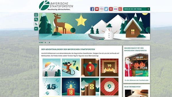 bayerische staatsforsten adventskalender gewinnspiel 2017. Black Bedroom Furniture Sets. Home Design Ideas