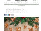 Berliner Morgenpost Adventskalender Gewinnspiel 2017