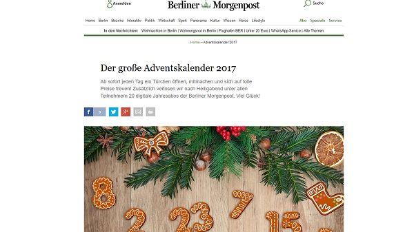 adventskalender gewinnspiel berliner morgenpost 2017. Black Bedroom Furniture Sets. Home Design Ideas