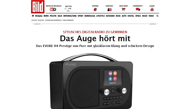 digitalradio evoke h4 prestige gewinnspiel pure und. Black Bedroom Furniture Sets. Home Design Ideas