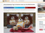 China Gadgets Adventskalender Gewinnspiel BB-8 Droiden RC Roboter