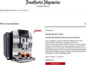 Frankfurter Allgemeine Adventskalender Gewinnspiel Jura Kaffeevollautomat