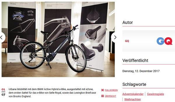 bmw hybrid e bike gewinnspiel gq magazin. Black Bedroom Furniture Sets. Home Design Ideas