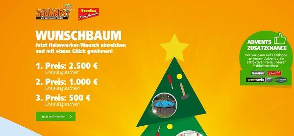 Globus Baumarkt Weihnachtsgewinnspiel Wunschbaum 2017