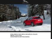 Jaguar Auto Gewinnspiel E-Pace Wintertraining 2018