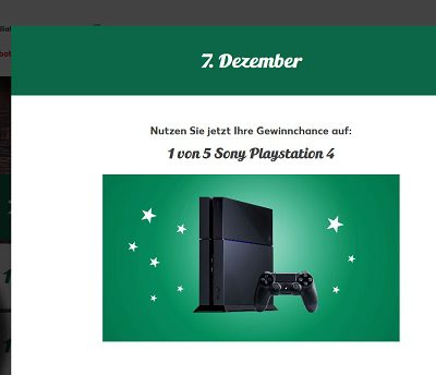 Kaufland Adventskalender 2017 Sony Playstation 4