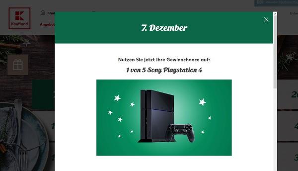 Kaufland Adventskalender 2017 Sony Playstation 4