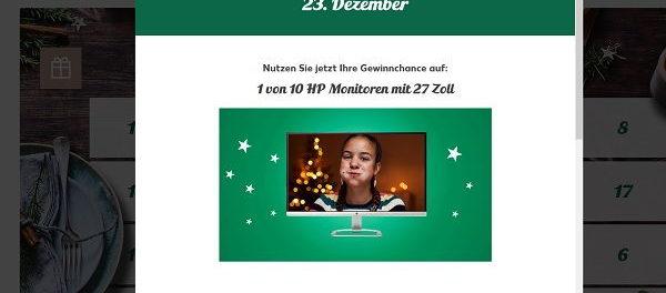 Kaufland Adventskalender Gewinnspiel 10 HP Monitore