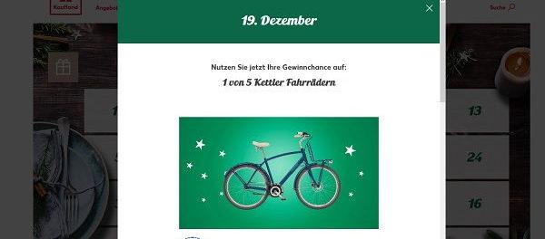 Kaufland Adventskalender Gewinnspiel Kettler Fahrräder