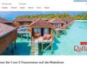 Kaufland Rafaello Gewinnspiel Malediven Reisen