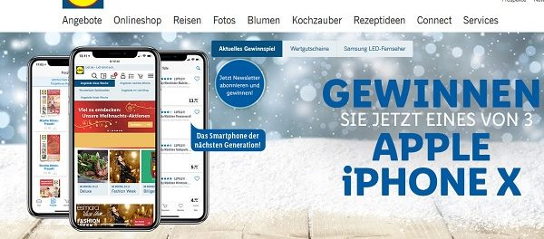 Lidl Gewinnspiele Apple iPhone X 2018