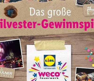 Lidl und Weco Silvester Gewinnspiel 2017