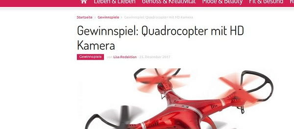 Lisa Gewinnspiel Carrera Quadrocopter