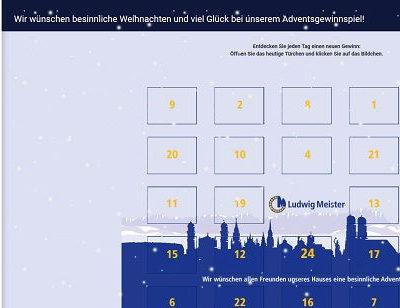 Ludwig Meister Adventskalender Gewinnspiel 2017